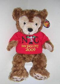 Disney New York Mickey Christmas 2009 Duffy Teddy Bear Plush
