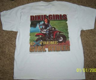 DIXIE T SHIRT DIXIE GIRLS EXTREME GIRL RIDER YOUTH SIZE LARGE 14 16
