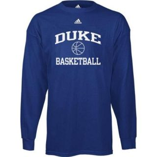 Duke Blue Devils Long Sleeve Adidas Basketball T Shirt Large