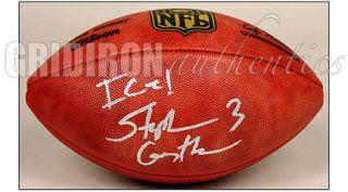 Stephen Gostkowski Autographed Official NFL Football w Ice Inscription