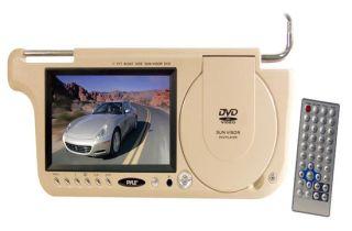 New Pyle 7 TFT Left Side Sunvisor DVD CD  Player Built in Speaker