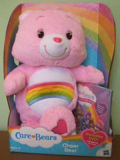 Bear Plush CHEER BEAR 12 From Hasbro 2012 NIB w DVD BRAND NEW LOOK