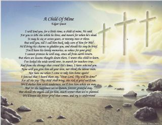 Child of Mine Poem Edgar Guest Personalized 3 Crosses