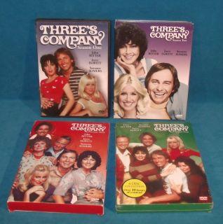 Threes Company The Complete Seasons 1 2 3 4 DVD Box Set Lot