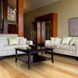Handscraped Natural Hickory Hardwood Flooring Wood Floor