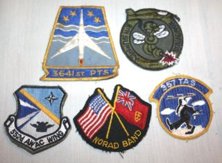14 Vintage USAF ~ MILITARY Patch Lot ~ Air Force Patches 70s