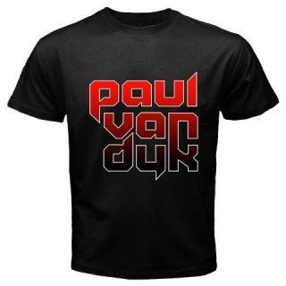 New Paul Van Dyk DJ Logo Black T Shirt s M L XL XXL 3XL