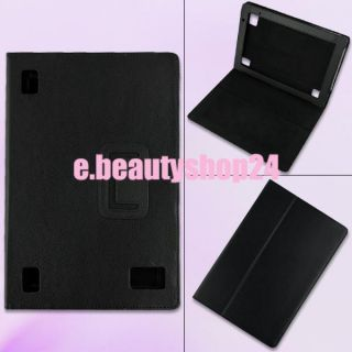 belts watch black stand leather case cover for acer iconia tab a500
