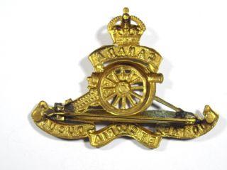 Canada Artillery Corps Original Brooched Cap Badge