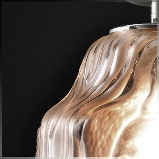 1930s ART DECO High Style GLASS TABLE LAMP by ANDRE HUNEBELLE & R