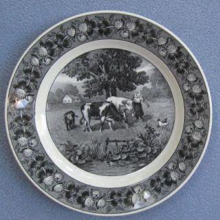 Villeroy Boch Dresden Landschaft Black Salad Plate