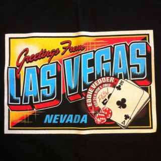 New Eddie Vedder Las Vegas T Shirt 2012 Post Card Studio Mark 5 Large