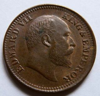 British India King Edward VII ½ Pice 1910 Nice