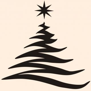 Festive Christmas Tree Vinyl Wall Decal, Holidays Home Decor