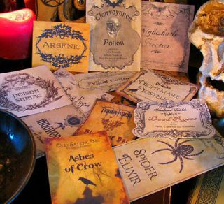 Halloween Potion Bottle Labels Party Prop ~set #4   Witchs Pantry EEK