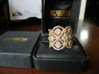 NWT14K EFFY COLLECTION ALMOST TWO CARAT DIAMOND RING   at Macys for $
