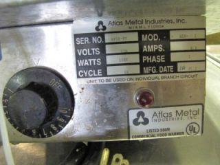 Used Atlas Metal Commercial 1 Pan Steam Well Drop in Nice