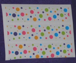 Neon Dots Edible Icing Sheets Rice Paper Party