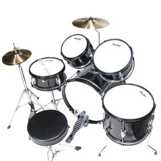 Mendini Black 5 Piece Child Junior Drum Set Cymbals