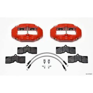 Wilwood Brake Caliper Billet Dynalite Aluminum Red 4 Piston Chevy