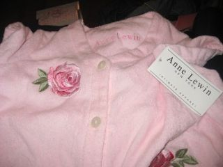Annie Lewin of New York Pink Terry Cloth Robe Size Med