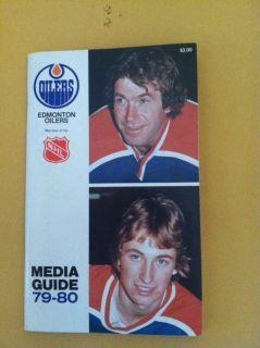 Edmonton Oilers NHL Media Guide 1979 1980 Signed Autograph Wayne