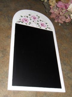 Shabby Cottage Chic Hand Painted Victorian Pink Rose New Office Chalk