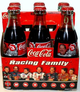 Dale Earnhardt 1999 Coca Cola 6 Pack Bottles Earnhardt SR Coke Bottles