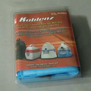Koblenz Wet / Dry Vacuum Cleaner Filter Bags 45 0389 2