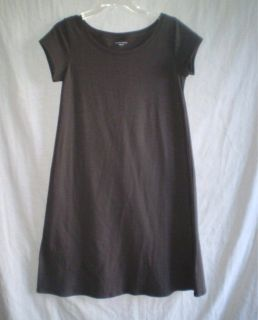 EILEEN FISHER Gray Stetch ORGANIC Cotton T Shirt Dress S Small