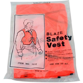 Emergency Safety Vest Bright Orange