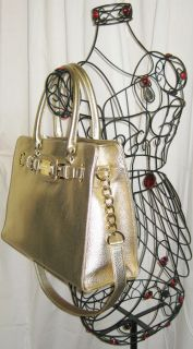 Hamilton Pale Gold Leather Large EW East West Tote MSRP $348