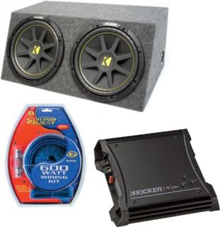 Kicker Car Audio Dual 15 Powered SEALED Sub Box Enclosure ZX400 1 C15