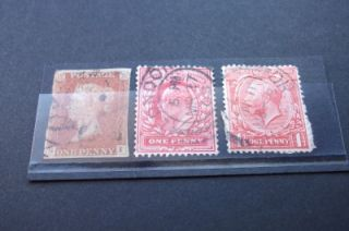 queen victoria george v edward vii penny stamps