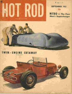 Hot Rod 1951 Sep 1937 Ford Russetta El Mirage Scta Drag