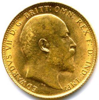 1909 Edward VII Full Gold Sovereign Lustre