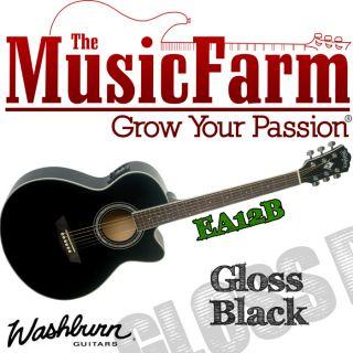Washburn EA12B Mini Jumbo Festival Series Acoustic Electric Guitar