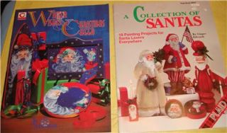 Lot #2 5 Tole Painting Pattern Books Christmas Santa Claus Sampler