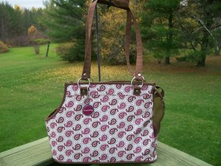 Pet Carrier Dog Carrying Handbag Purse Bag By Simply Dog Paisley