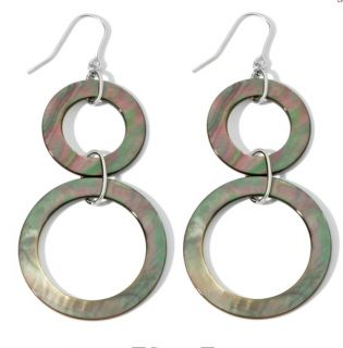 una by R.F.M.A.S. Mother of Pearl Sterling Silver Drop Earrings