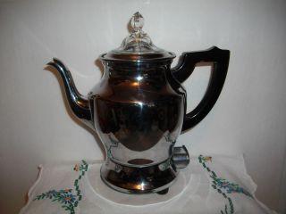 VTG Electric CHROME COFFEE PERCOLATOR Universal Coffee Pot LANDERS