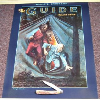 Bullet Knife Poster The Guide in Tube Stocking Stuffer