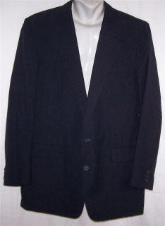 44R Egon Von Furstenberg DARK SOLID NAVY BLUE sport coat jacket suit