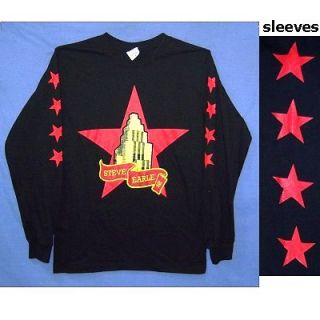 Steve Earle 08 Stars Logo Black Long Sleeve Shirt L