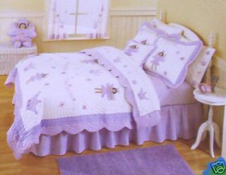 THATS MINE Handcrafted TWIN Quilt Sham Valance Ethnic Fairy Princess