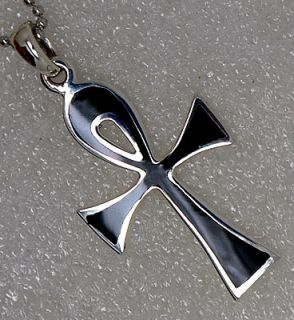 Ankh Egyptian Egypt Cross of Life Pagan 925 Sterling Silver Pendant