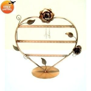 Heart Shaped with Roses Earring Holder Earring Tree Earring Oraganizer