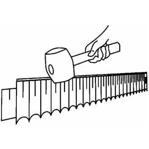 Ap1 garden fence lawn edging boarder edge hammered for Easy gardener lawn edging