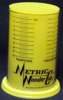 New Milmour Plunger Jr Wonder Cup Adjustable 1 Cup Measuring Cup