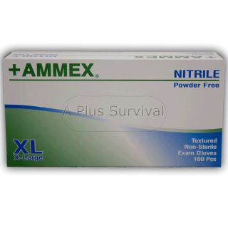 100 Blue Nitrile Medical Exam Safety Gloves Extra Large Size Latex
